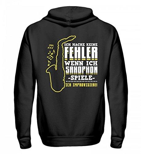 Hochwertiger Zip-Hoodie - Ideal für Jeden, der Saxophon Liebt!