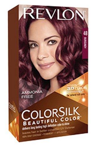 revlon coloration permanente colorsilk beautiful color couleur radieuse longue tenue couleur 48 bourgogne - Coloration Cheveux Revlon
