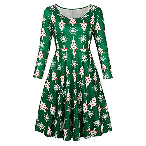 OSYARD Weihnachts Pullover Kleid Damen,Christmas Dress Mädchen, Frauen Vintage Frohe Weihnachten...