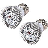 Latinaric 18W Eclairage Pour Plantes E27 Lampe De Croissance 18 LED Ampoules De Serre