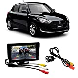 #6: Fabtec Premium Quality 5.0 inch Full Hd Dashboard Screen with LED Night Vision Water Proof Car Rear View Reverse Parking Camera Free for Maruti Swift New