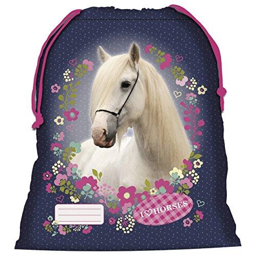 Cavallo bianco sacchetto Piscina Scarpe Scuola Spiaggia novità Horses Pony Pony