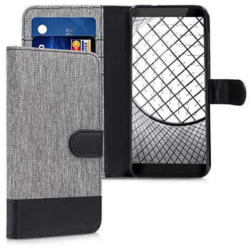 kwmobile ZTE Blade V9 Hülle - Kunstleder Wallet Case für ZTE Blade V9 mit Kartenfächern und Stand