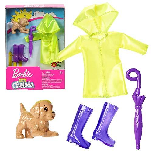 Mattel Set Regen-Kleidung   für Chelsea Barbie FXN71   Mode Puppen-Kleider