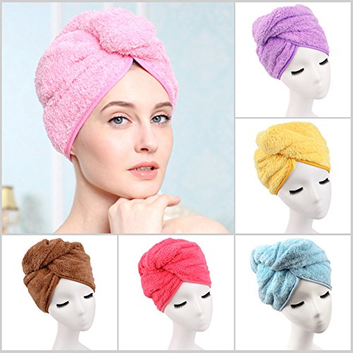 1PCS Shower Cap Super absorbent Hair Towel Turban Hair-Drying Cap Hat Head...