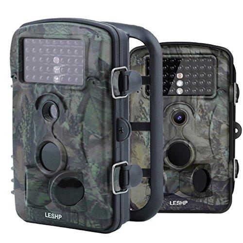 Elepawl WildKamera, Jagd Trail Kamera 12MP 1080P HD Kein Glühen mit Zeitraffer 65ft 120 ° Weitwinkel Infrarot Nachtsicht 42pcs IR LEDs 2,4
