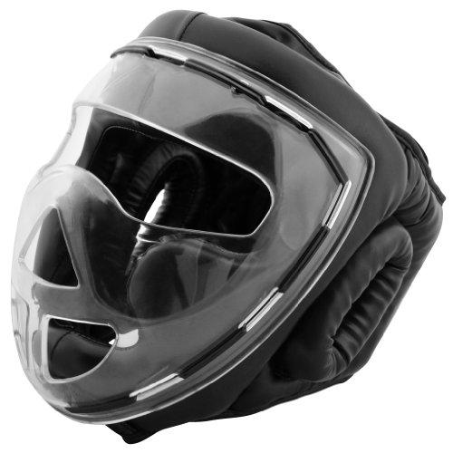 Bad Company I Full Face Kopfschutz I Helm mit transparentem Visier I Gr. M