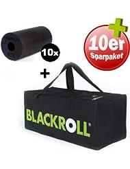 10er Pack BLACKROLL Standard (schwarz) + 1 x Trainer Bag