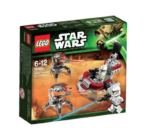 LEGO Star Wars 75000 - Clone Trooper vs. Droidekas - Clone Wars Lego Star Spielzeug