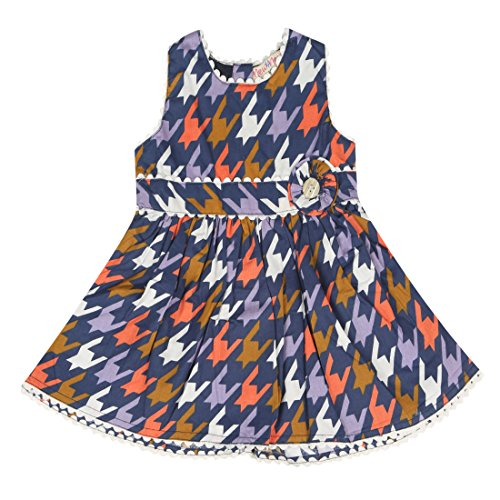 New 4 New Off Multicolor Cotton Frocks For Girls( Pack Of 1)
