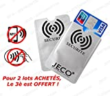 Lot de 2 - Protège Carte ANTI-RFID/PAIEMENT SANS CONTACT carte bleue visa mas...