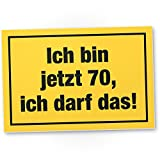 DankeDir! 70 Jahre - Ich darf Das, Kunststoff Schild - Geschenk 70. Geburtstag, Geschenkidee Geburtstagsgeschenk Siebzigsten, Geburtstagsdeko/Partydeko / Party Zubehör/Geburtstagskarte
