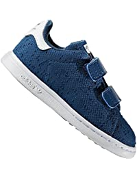 save off 5d519 b413f adidas Originals Stan Smith Enfants Chaussures Baskets LA Basket Gazelle  Bleu - Bleu, 24 EU