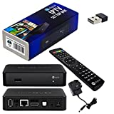 MAG 250 Original HB-DIGITAL IPTV SET TOP BOX Multimedia Player Internet TV IP Receiver with UK AC power plug + HB Digital Nano WLAN Adapter WiFi Stick Dongle