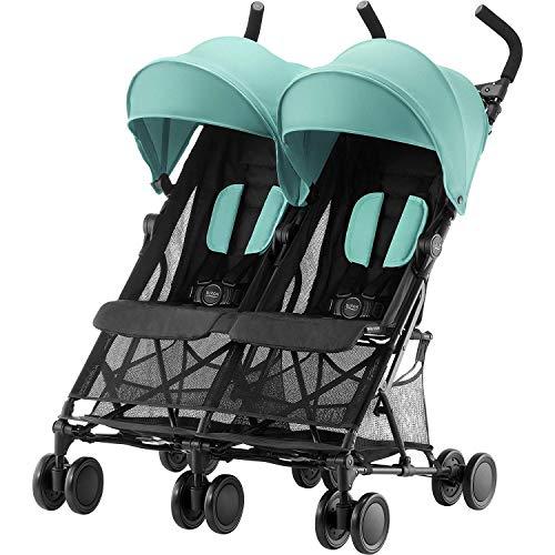 Britax Römer Zwillingskinderwagen, HOLIDAY DOUBLE Buggy, 6 Monate bis 3 Jahre (bis 15 kg Pro Sitz) Kinderwagen, aqua green
