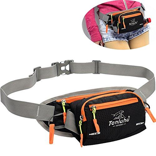 Gürteltasche Damen Fanny Pack SINOKAL Taillenbeutel mit Wasserflaschenhalter Multifunktionaler Bum Bag Running Gürteltasche Beutel zum Wandern Laufen Radfahren Camping Klettern (Hats Bum)
