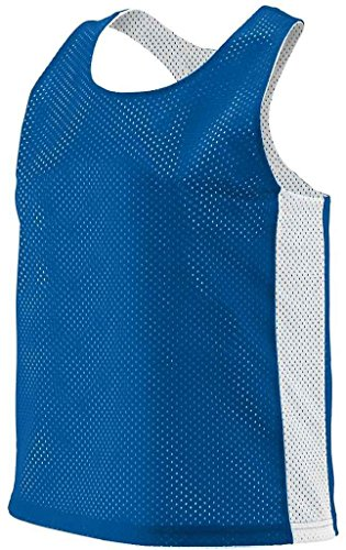 Ladies' Rev Tricot Mesh Lax Tank ROYAL/ WHITE L/XL -