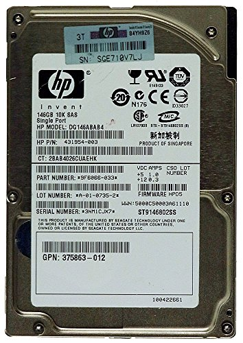 146GB SAS Notebook HDD HP DG146ABAB4 ST9146802SS 10k ID14882 (Notebook Hp Interne Festplatte)