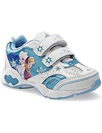 big sale 87526 01b80 Disney Frozen infantil Elsa Anna luminoso luces Athletic de zapatillas de  tobillo zapatos color azul y