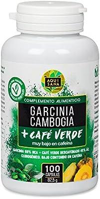 GARCINIA CAMBOGIA CON EXTRACTO DE CAFÉ VERDE, supresor de apetito y quemador de grasas. Complemento para la dieta. 100 cápsulas, complemento alimenticio natural, cápsulas para dieta, Perdida de peso.