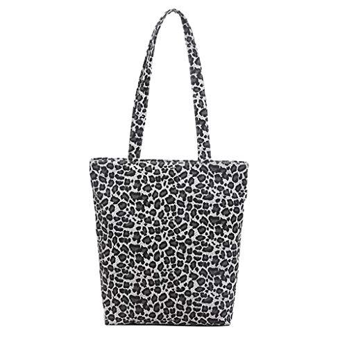 Linkay Neuer HeißEr Verkauf Mode Wild Damen Canvas Messenger Tasche Handtasche Leopard Drucken UmhäNgetasche Rucksack-Grau Canon Marine