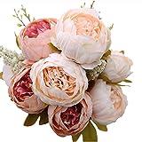 Gemini_Mall Blumenstraß für Brautparty, Hochzeit, Festivals, Weihnachten, künstliche Pfingstrosen, Seidenblume, Dekoration, rosa hellrosa