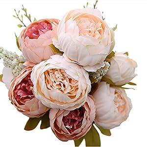 Gemini _ Mall bridal wedding party festival di Natale artificiale peonia seta bouquet di fiori decorazione rosa Light Pink