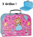 Unbekannt 1 Stück _ Kinderkoffer / Koffer - KLEIN -  Prinzessin & Herzen - rosa / pink  - ideal für Spielzeug und als Geldgeschenk - Mädchen & Jungen - Kinder & Erwac..