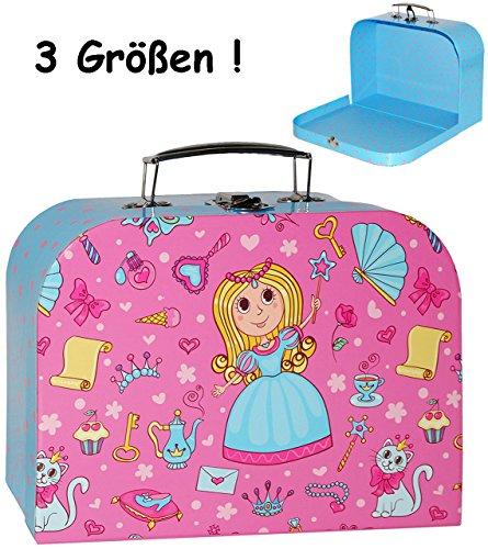 1 Stück _ Koffer / Kinderkoffer - GROß - ' Prinzessin & Herzen - rosa / pink ' - 30 cm - ideal für Spielzeug und als Geldgeschenk -...