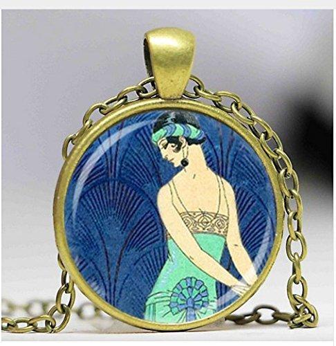 Art Deco Schmuck Flapper Girl Roaring Twenties Halskette, Art Jewelry (Damenmode Roaring Twenties)