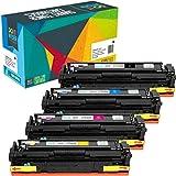 Do it Wiser 4 Cartouches de Toner CF540A CF541A CF542A CF543A pour HP 203A Color Laserjet Pro M254dw M254dn M254nw MFP M280nw M281fdw M281cdw M281fdn