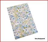 Selbstklebende Rückseite, grau mit Blumenmuster A4Blatt Blume Design Craft DC Fix Vinyl Aufkleber