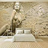 Carta Da Parati, 3D Murale, Hd Stereo Rilievo Surf Vela Bellezza Foto Wallpaper Murale, 250X175Cm