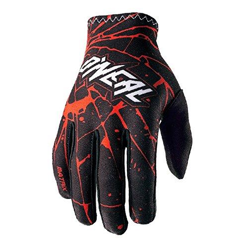 O'Neal Matrix Handschuhe Enigma Schwarz Rot MX MTB DH Motocross Enduro Offroad, 0388M-3, Größe S (Atv-rote Handschuhe)