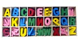 CraftDev Colorful Wooden Alphabets Set (5 Pcs Each) Letters For Art And Craft Purpose ( MULTI COLOR )