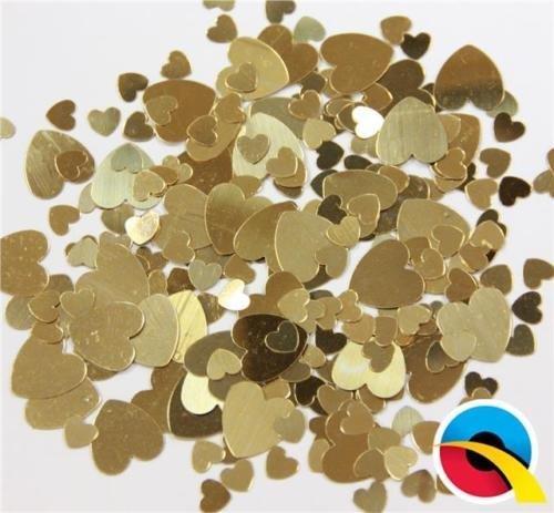 Qualatex Sortiert Gold Herzen Metallisch Tisch Konfetti Streuseln (3 X 12g Pack)