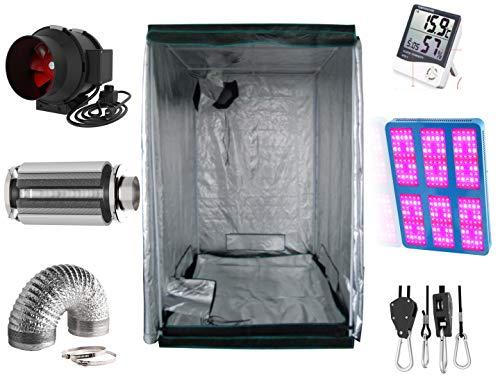 Nito GmbH Growbox Komplettset 120 x 120 cm mit 3000 W LED und Premium Aktivkohlefilter (120x120 3000 Watt)