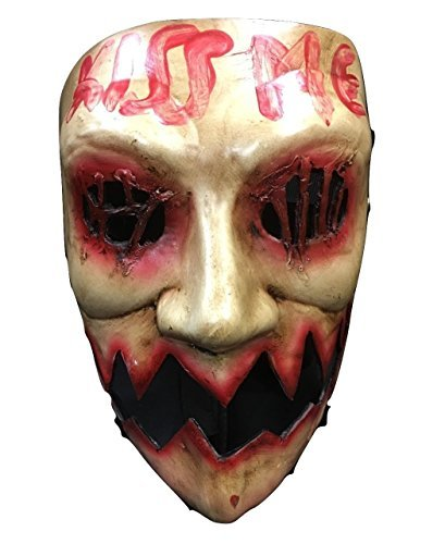 ection Year Deluxe Glasfaser Halloween Cosplay Maske (Purge-maske Halloween)