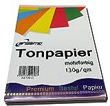 200 Blatt Tonpapier Bastelpapier A4 Farbig Sortiert 130 g / qm von Brigamo