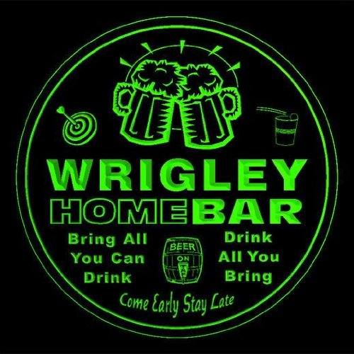 4x-ccq49100-g-wrigley-family-name-home-bar-pub-beer-club-gift-3d-coasters