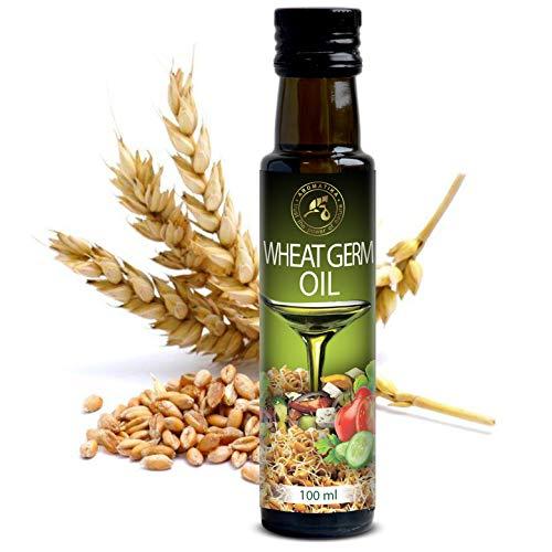 Olio di Germe di Grano Commestibile 100ml - 100% Puro & Naturale - Ricco di Vitamina E - USA - Per Condimento per Insalata di Foglie Verdi - Verdure - Salse - Dessert - Cottura