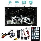 7-Zoll-Bluetooth-Auto-Touchscreen-MP5-Player, HD-Autoradio-Multimedia-Player FM-Radio mit Rückfahrkamera