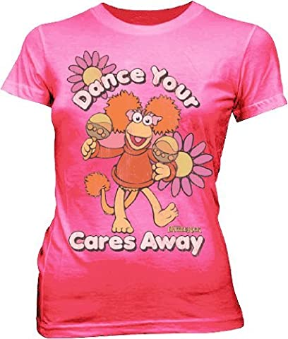 Fraggle Rock Red Dance Your Cares Away Hot Pink Juniors