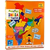 [Sponsored Products]Imagimake Mapology India With State Capitals - Educational Toy And Learning Aid For Boys And Girls-Map Puzzle-Jigsaw Puzzle.