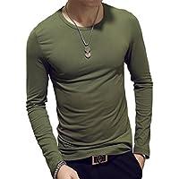 Hot 2018 Otoño Hombres O-Cuello De Manga Larga Camiseta Casual Tops Blusa Camisas M-2XL