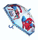 #8: Super Hero Print Umbrella for Small Boys Kid up to Age 10 Years Approx 24 inch Long ( Multicolor )