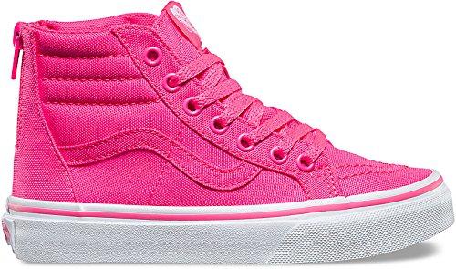 VANS KIDS SK8-HI ZIP Schuh 2017 neon canvas pink/true white, 38 (Vans Schuhe Herren Pink)