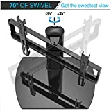 FITUEYES Universal Pedestal TV Stand with Swivel Mount for 32 to 55 inch TVs TT104501GB