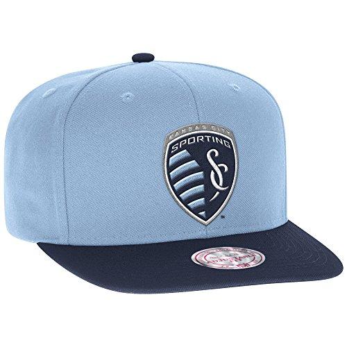 Mitchell & Ness Sporting Kansas City 2Tone Team Logo Snapback Cap-Blau/Navy - Krone Logo Tee