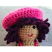 Crochet pattern, Amigurumi doll with beret and dress (English Edition)
